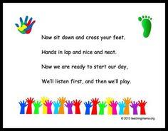 Preschool Transition Songs