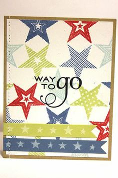 Starry Way To Go Card by Heather Nichols for Papertrey Ink (June 2012)