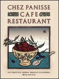 Twenty-three years of posters for Chez Panisse.