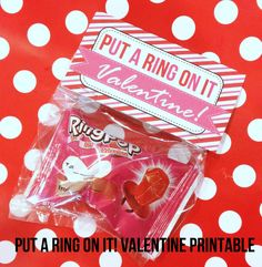 """Put a Ring on It! Ring Pop Valentine Printable. Hahaha - this makes me laugh thinking of telling other Kindergarten kids to """"put a ring on it"""""""
