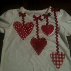 Kinsley's Valentines Day shirt I made.