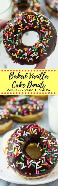 These baked vanilla doughnuts with chocolate glaze… (scheduled via http://www.tailwindapp.com?utm_source=pinterest&utm_medium=twpin&utm_content=post184102483&utm_campaign=scheduler_attribution)