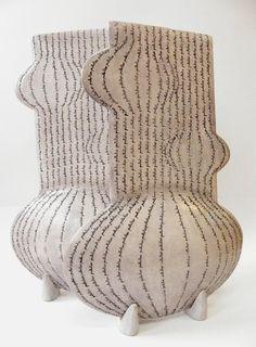 black and white - ceramic - Pınar Baklan Onal Clay Vase, Sculpture Art, Ceramic Sculptures, Art Corner, Contemporary Ceramics, Ceramic Jewelry, Ceramic Artists, Ceramic Pottery, White Ceramics