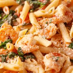 cooking recipes Looking for a creamy shrimp pasta? This Tuscan Shrimp Penne from hits the spot. Pasta Recipes Video, Penne Recipes, Shrimp Pasta Recipes, Seafood Recipes, Chicken Recipes, Cooking Recipes, Healthy Recipes, Penna Pasta Recipes, Crockpot Recipes