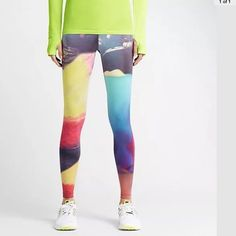 HP Nike Forever Run Lava Tights HP 12/6 Winter Vibes Party! NWT Forever Run Lava print tights. Multi-colored. Tight fit. Just bought online and don't like how they look on me. I paid $95. They were originally sold for $150. No trades. Nike Pants Leggings