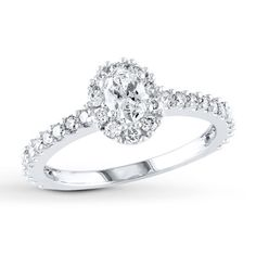 diamond engagement ring 1 carat tw 14k white gold jared engagement ringskay jewelers - Wedding Rings At Kay Jewelers