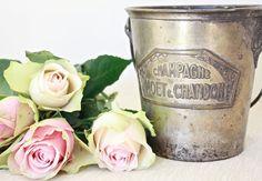 Moet et Chandon  Vintage Planter by BeyondTheBrocante on Etsy