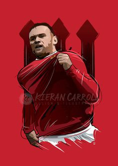Wayne Rooney Manchester United Art Print by KieranCarrollDesign