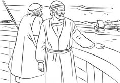 Paul and Barnabas missionary journey coloring page | Free Printable Coloring Pages