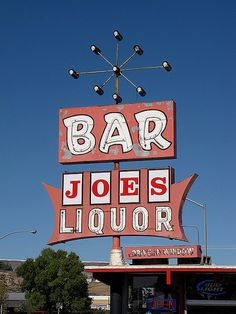 Joe's Liquor....Rock Spring,Wyoming vintage neon sign