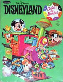 Disneyland Color By Number Coloring Book Whitman 1961