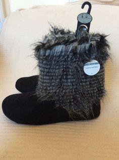 M&S PER UNA Ladies slippers BOOTS UK8,EU42,about:11 or 28cm BNWT Black