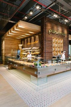 Pin Veredas Arquitetura --- www.veredas.arq.br --- Inspiração:  Panemar bakery store in Polus mall - Cluj Napoca by Todor Cosmin.