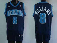 a4c42a41d ... Jazz 8 Deron Williams Embroidered Blue NBA Jersey!