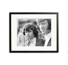 Jim Morrison and Ray Manzarek of The Doors in Frankfurt, West Germany, September 1968.
