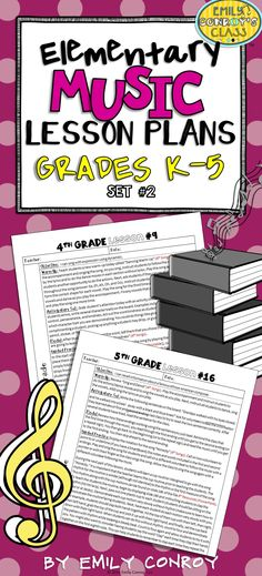 Elementary music lesson plans (Grades K-5)- These are creative and concise and are aligned to the core arts standards! They contain resources, notation, and sound files for all of the songs mentioned in the lessons plans!
