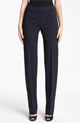 Armani Collezioni Straight Leg Featherweight Wool Pants