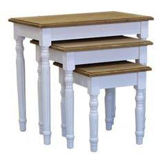Table gigogne L 60 cm en bois massif ''Leyde''