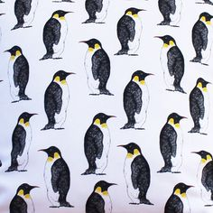 Penguin Fabric  upholstery fabric  curtain by marthaandhepsie