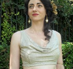 Hollywood Glamour Choli in Silver by chovihani on Etsy, $46.00