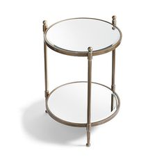 Britta Two-Tier Mirrored Table