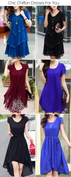 Chic Chiffon Dresses For Women Sale On lulugal.com