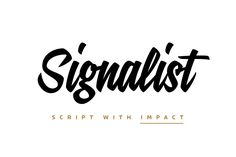 Signalist by Mika Melvas on @creativemarket