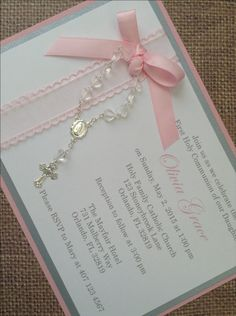 Deluxe Handmade Communion/Christening/Baptism Invitations.    Each invitation has 3 layers of card stock for that extra luxurious look.