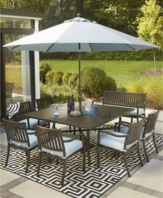 Wayland Outdoor Aluminum 8Pc Dining Set 64 Square Dining Table