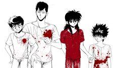 Yusuke, Kuwabara, Kurama, Hiei #blood
