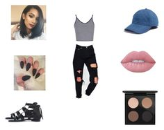 """""""Untitled #51"""" by nobiebey on Polyvore featuring Madewell, Topshop, Boohoo, Lime Crime and MAC Cosmetics"""