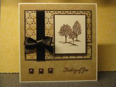 Lovely trees in copper by magerrish - Cards and Paper Crafts at Splitcoaststampers. Lovely as a Tree