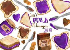 Peanut Butter and Jelly Clipart @creativemarket
