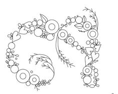 Embroidery Letters, Hand Embroidery Art, Embroidery Bags, Embroidery Stitches, Hand Embroidery Design Patterns, Stitch Patterns, Brazilian Embroidery, Flower Doodles, Art Drawings Sketches Simple