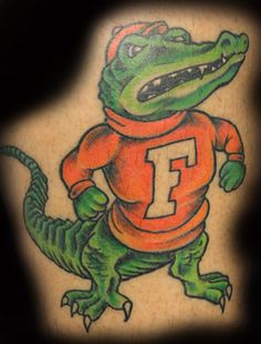 Pin Florida Gator Tattoos Page 7 Picture To Pinterest