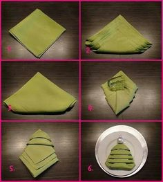 Master the Christmas tree napkin fold and you won't need to buy any special holiday napkins or napkin rings