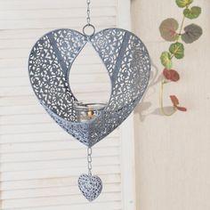 #prezent #gift #mama #mother #celebration Świecznik Hearts wiszący 80cm, 80cm - Dekoria