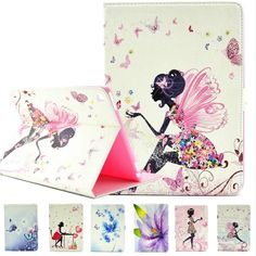 Cute Girls Luxury Diamond Butterfly PU Leather Cover Case For Apple iPad Pro…
