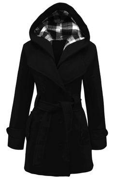 MyMixTrendz- Womens Warm Fleece Hooded Jacket With Belt Coat Top Plus Sizes 8-20