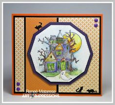 Art Impressions Blog: Challenge 215 Orange and Purple WEEK 2! Featuring New Wood Mounted Blocks at Hobby Lobby!