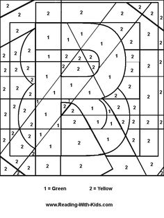 Cool Coloring Pages Color By Number Letter R