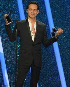 Big winner: Marc Anthony won 10 awards on Thursday at the Billboard Latin Music Awards...RIGHTFULLY SO...