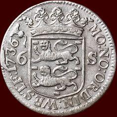 West-Friesland - Scheepjesschelling van 6 stuiver 1736