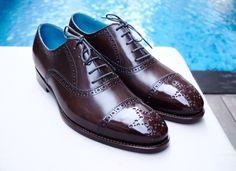 Dominique Saint Paul - half brogue shoes - hand coloured