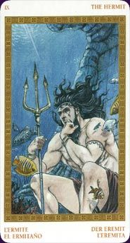 Olympus Tarot   A tarot of the Ancient Greeks. Each card in the Olympus Tarot represents a myth, hero, monster or god from Greek legend, depicted in dramatic comic-book style.