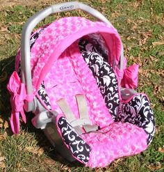 Car seat cover for baby girl
