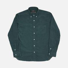 BD Shirt - Forest Green Corduroy Denim Button Up, Button Up Shirts, Men's Shirts, Corduroy, Computer Chess, Shirt Dress, Green, Mens Tops, Stuff To Buy