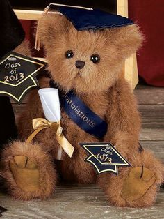 Bearington Bear Doll  CLASS OF 2015  SMARTY GRADUATION GRADUATE #1706