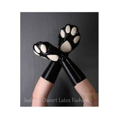 Our #lockable #petplay #paws for happy #rubber kittens and #latex puppies! Made in Germany by #IsabeauOuvert - get them here: http://www.isabeau-ouvert.de/latex-shop/de/latex-spielbekleidung/98-abschliessbare-latex-pfoten.html #fetisch #fetish #restrictive #bondage