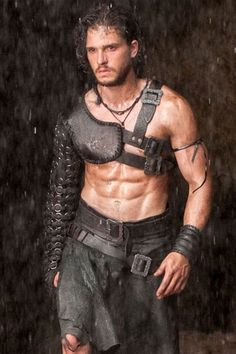 "Kit Harrington, Game of Thrones - starring in the upcoming ""Pompei"". (And Sarah wants to know why I watch that show... *whistles innocently*) (and by the way: COMMENT BLOCKED AGAIN, EVERYONE. Just in case you've all wondered why I keep disappearing tonight. Grrrr....)"